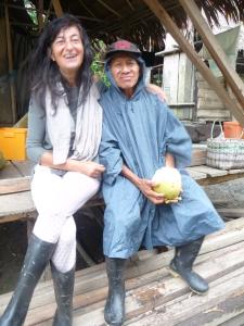 Elsa Cayat avec le chaman Shipibo - Terre de Colibris - Pérou 2013